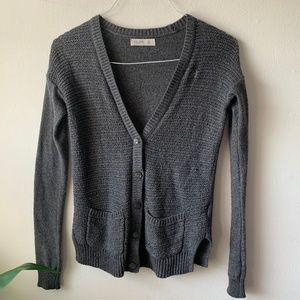 Gilly Hicks Gray Button Down Cardigan Sweater